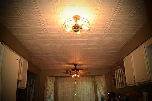 faux tin decorative ceiling tile