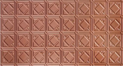 Copper 207 2'x4' faux tin ceiling tile