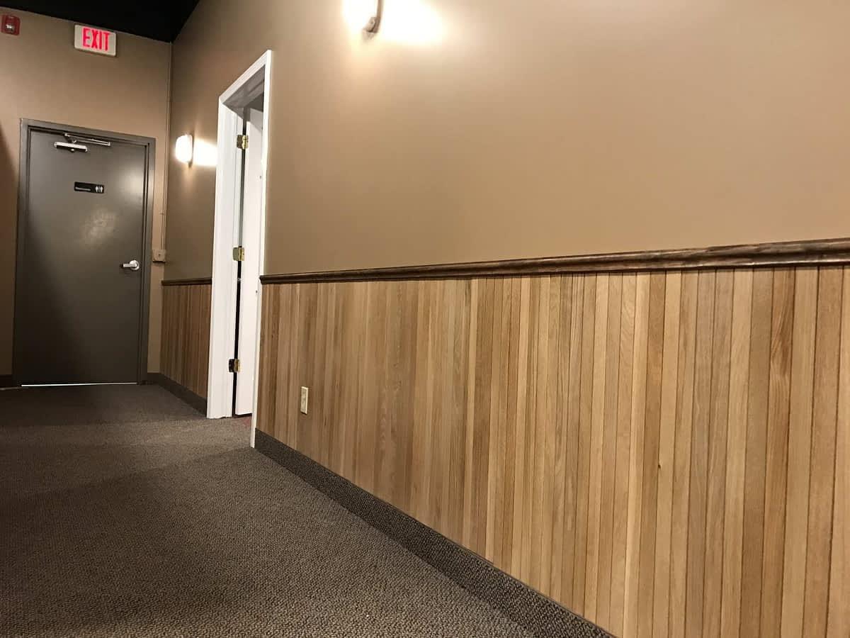 solid wood tambour wall wainscot paneling