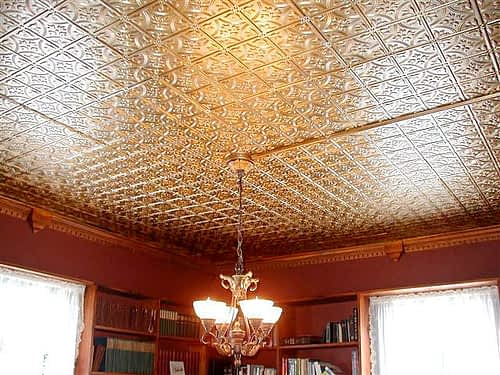 decorative faux tin ceiling tiles brass