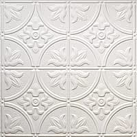 white glue up decorative-faux-tin-ceiling