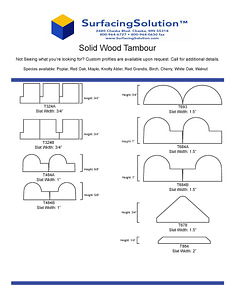 Solid Wood Tambour for Walls, Ceilings, wainscots, pole wraps and more!