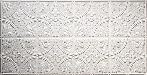 white glue up decorative-faux-tin-ceiling
