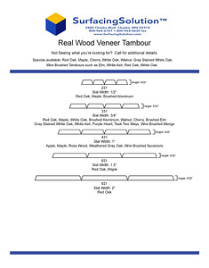 Real Wood Veneer Tambour for Walls, Ceilings, wainscots, pole wraps and more!