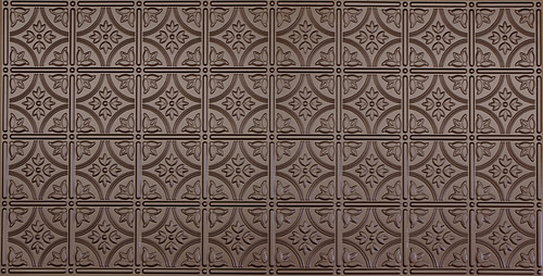 faux tin ceiling tile in bronze