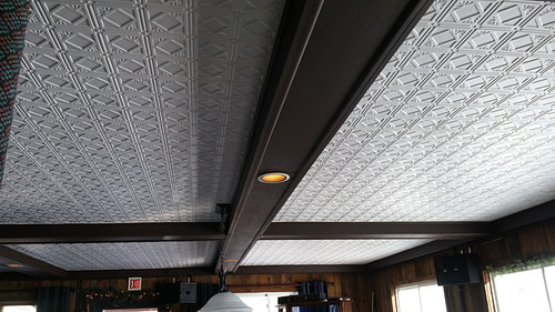 207 White Faux Tin Ceiling Tile